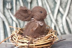 Chocolate Angora Bunny eco friendly hand sewn by woolcrazy on Etsy, $20.00