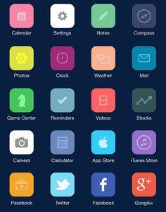flat icon concept