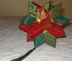 Giramundo, tambem conhecido como estrela da Felicidade, um patchwork em 3-D