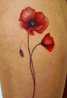 Baby Tattoos, Mini Tattoos, Finger Tattoos, Body Art Tattoos, Small Tattoos, Cool Tattoos, Poppy Tattoo Small, Red Poppy Tattoo, Watercolor Poppy Tattoo