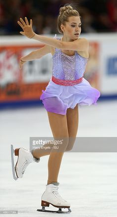 Elena Radionova of Russia skates during the Ladies Free Skating on day two of the Rostelecom Cup ISU Grand Prix of Figure Skating 2015 at the Luzhniki Palace of Sports on November 21, 2015 in Moscow, Russia.