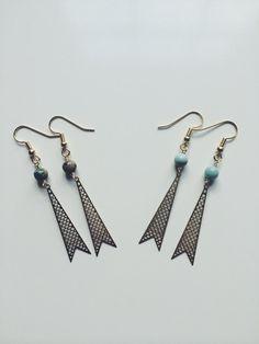 FISHTAIL EARRINGS by MadMadeMetals on Etsy #Jewelry  #Earrings #Dangle_ earrings  #statement_earrings  #gift_for_her  #gold_earrings  #drop_earrings  #jewelry #minimal_earrings  #geometric  #turquoise  #light_blue # trendy_earrings  #brass_dangle #Valentines