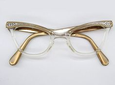 Vintage cat eye frames.
