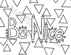 Be True Coloring Page 85x11 Inch by MarissasMuse on Etsy Happy