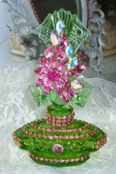 Antique Bejeweled Perfume Bottle