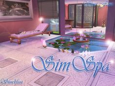 Sims 4 Updates: Sims Fans - Build / Walls / Floors, Objects, Decor, Miscellaneous : The SimSPA by Sim4funThis set includes 21 items and a .rar file with premade lot.1 - Wo, Custom Content Download!