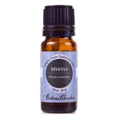 Myrtle Essential Oil!  The ancient Egyptians used Myrtle, a plant native to Africa, to remedy sore throats and coughs. As early as 1867 there is also evidence that the essential oil was commonly being used by medical practitioners.