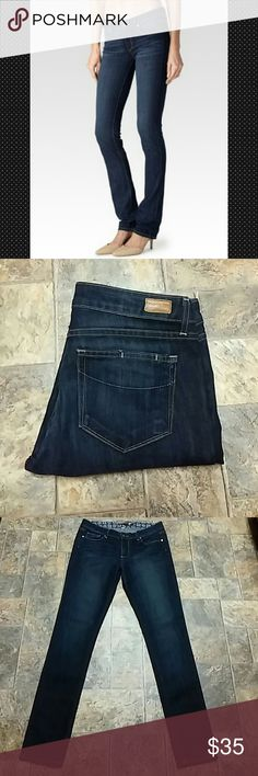 "Paige ""Skyline"" Skinny Straight Jeans size 30. Paige ""Skyline"" Skinny Straight Jeans size 30, inseam 32-1/2"". Excellent condition. First picture for reference. Anthropologie Jeans Skinny"