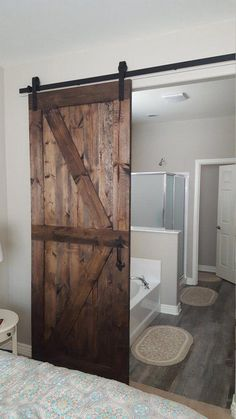 Cool 30 Perfect Farmhouse Sliding Barn Door Design And Decoration Ideas To Try. # Informations About 30 Perfect Farmhouse Sliding Barn Door Design And Decoration Ideas To Try Pin You can easily use my Farmhouse Interior Doors, Interior Barn Doors, Exterior Doors, Diy Barn Door, Sliding Barn Door Hardware, Sliding Doors, Rustic Barn Doors, Barn Door For Bathroom, Bedroom Barn Door