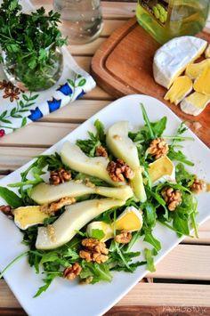 rukola i gruszki Kitchen Recipes, Cooking Recipes, Healthy Snacks, Healthy Eating, Vegetarian Recipes, Healthy Recipes, Good Food, Yummy Food, Side Salad