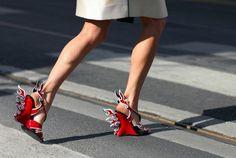 Esculturas en los tacones - Zapatos de Moda