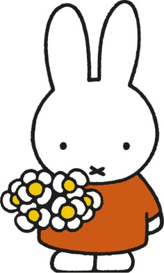 miffy with flowers