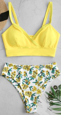 Tankini Swimsuits For Women, 2 Piece Swimsuits, Cute Swimsuits, Swimsuit With Shorts, Halter One Piece Swimsuit, Floral Swimsuit, Summer Bathing Suits, Girls Bathing Suits, Bikinis