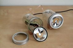 Audiojar by Sarah Pease - The Audiojar by Sarah Pease is exactly what it sounds like. A sound system made out of classic mason jars, it is a fun do-it-yourself project that ...