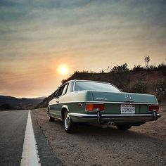 What a beautiful vehicle: The Mercedes-Benz 250 C Coupé W 114 /8. Photo by Instagram user @seanjohnstun.