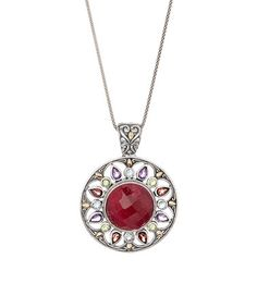 $114.99  Loving this Ruby & Sterling Silver Pendant Necklace on #zulily! #zulilyfinds