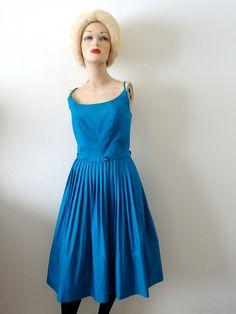1950s Sundress / Cotton Party Dress with by NESTdesignstudio, $86.00