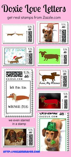 Get real stamps to mail your Doxie Love Letters