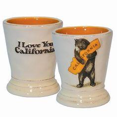 California Bear Hug Shot Glass, Ceramic