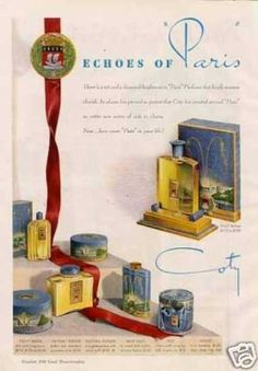 Coty Echoes of Paris Perfume (1939)