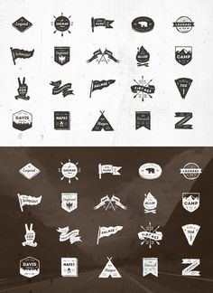 20 Vintage Grunge Badges #design Buy Now: https://creativemarket.com/vuuuds/126489-20-Vintage-Grunge-Badges?u=ksioks