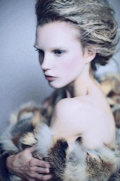 Monika Viol Bagalova, ice princess hair idea.