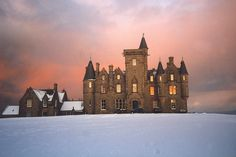 Glengorm Castle, Isle of Mull. Scotland..in winter