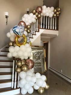 The balloon garland at this 'We're Engaged' Engagement Party is amazing! - The balloon garland at this 'We're Engaged' Engagement Party is amazing! See more party ideas - Backyard Engagement Parties, Engagement Party Planning, Engagement Party Dresses, Engagement Party Decorations, Engagement Party Invitations, Bridal Shower Decorations, Wedding Engagement, Engagement Dinner Ideas, Engagement Pictures