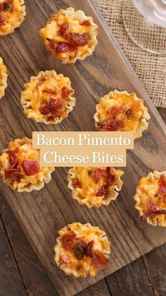 Bacon Appetizers, Appetizer Dips, Appetizer Recipes, Phyllo Recipes, Cocktail Party Food, Snacks Sains, Lard, Pimento Cheese, Cheese Bites