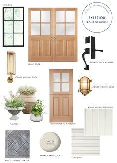 Emily Henderson Portland Fixer Upper Colored Door Exterior Moodboard 1