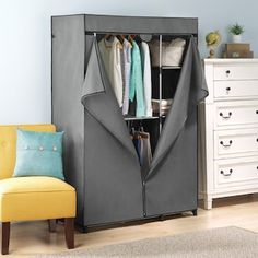 Whitmor Deluxe Utility Closet, Grey Source by kohls closet Closet System, Storage Spaces, Free Standing Closet, Portable Wardrobe, Closet Storage, Utility Closet, Portable Closet, Whitmor, Storage