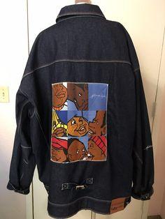 "Mens Vintage 1992 ""Fat Albert & Gang"" Platinum Fubu Jean Jacket 6X 6XL #FUBU #JeanJacket"