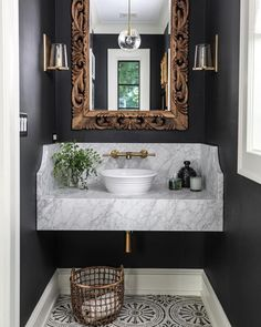 Country Home Decor 7 Ways to Jazz Up Your Powder Room.Country Home Decor 7 Ways to Jazz Up Your Powder Room Big Bathrooms, Beautiful Bathrooms, Bathrooms Decor, Bathroom Lighting, Bad Inspiration, Bathroom Inspiration, Bath Design, Home Design, Sink Design