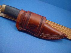 Custom hand tooled leather cross draw knife sheath for a buck 692 Vanguard  $27.99