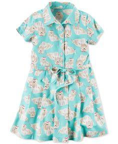 4d70c9553973 Carter's Dog-Print Shirtdress, Little Girls (2-6X) Carters Dresses,