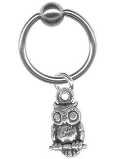 18 gauge Earring-Sterling Silver Owl Captive Ring-18 gauge 5/16 inch-Cartilage Earring-Tragus Jewelry-Ear Hoop Body Jewelry BodySparkle Body Jewelry, http://www.amazon.com/dp/B007YJ9PK6/ref=cm_sw_r_pi_dp_NTA.qb122Q88W