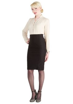 I'll Have the Usual Skirt - Black, Solid, Work, Pencil, Minimal, Winter, Basic, Girls Night Out, Press Placement, Vintage Inspired, Good, Best Seller, Black, Mid-length