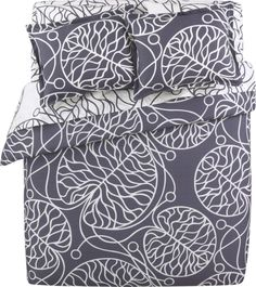 Crate and Barrel duvet cover. Easily mixed with some colored pillows/sheets for variety.