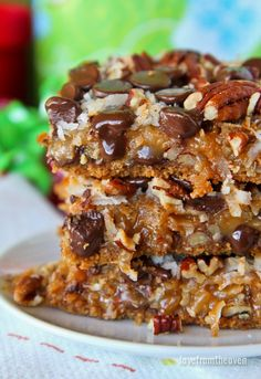 Caramel Filled Magic Cookie Bars. These are on the top of my holiday baking list for Christmas, love this recipe!