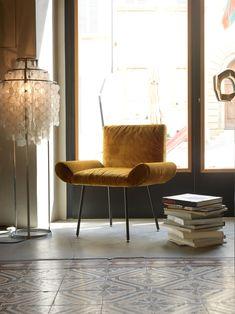 Upholstered velvet guest chair GINEVRA | Armchair - Quinti Sedute