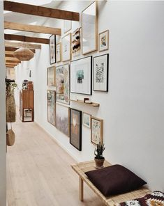 Johannes Holt Iversen, Aquarelle Study in Interior Setting Picture Frame Layout, Picture Frames, House Entrance, Historic Homes, Victorian Homes, Warm Colors, Entryway Decor, Interior Decorating, House Styles