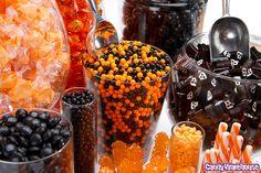 Mesa dulce de Halloween con caramelos artesanales. #MesaDulcehalloween #BuffetDeDulceshalloween