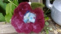 Hand made with love felted brooch or hair pin. Perfect for summer for holiday time. Flowers Wine, Big Flowers, Felt Flowers, Flowers In Hair, Rainbow Flowers, Felt Brooch, Elegant Flowers, Holiday Time, Flower Brooch