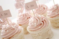 "Cute cupcakes. Instead of just ""I do"", you could also have an ""I do too"" sign. Or a ""we do""."