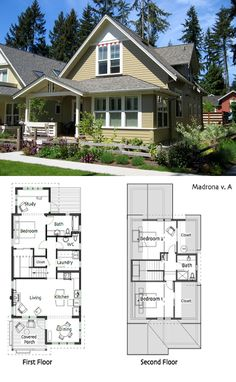 """""""This is a perfect sized house"""" Ross Chapin Architects - Madrona House :: 1548 sq. Cottage Plan, Cottage Living, Cottage Homes, Dream House Plans, Small House Plans, House Floor Plans, Small Cottages, House Blueprints, Small House Design"""