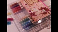 Cómo usar los rotuladores acuarelables de Santoro (12 rotuladores tono pastel, WILLOW) Embellishments, Cinderella, Blog, Eyeshadow, Scrapbook, Etsy, Pastel, Beauty, Tutorials