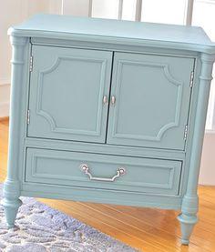 Very cute, spray painted dresser