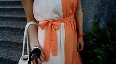 I love this orange dip dye chiffon dress. – Nagyon szeretem ezt a narancs. Dip Dye, Chiffon Dress, Wrap Dress, How To Make, How To Wear, China, Summer Dresses, Orange, My Style