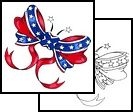 Love this confederate flag bow tattoo design!