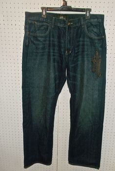 Men's Nostic Denim Blue Jeans SZ 38 X 38 Designer Pants #BaggyLoose